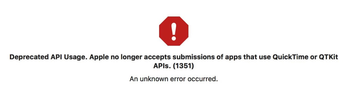 Xcode warning: Deprecated API usage