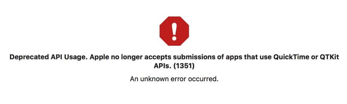 Xcode warning: Deprecated API usage