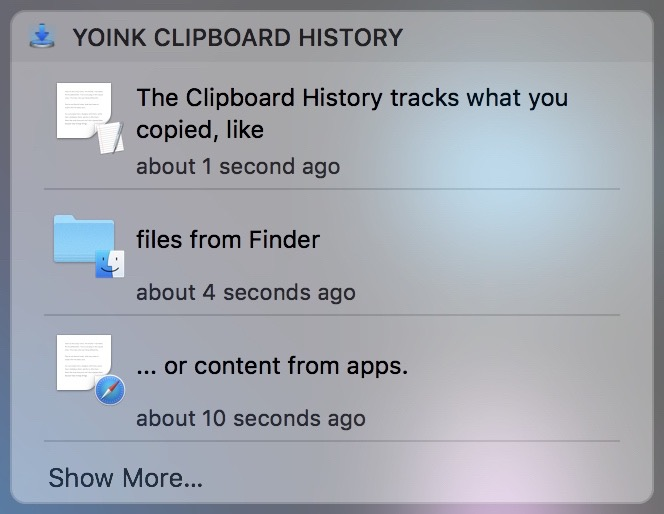 Today Widget in macOS' Notification Center