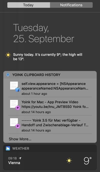 Widget with wrong appearance in macOS Mojave's Dark Mode